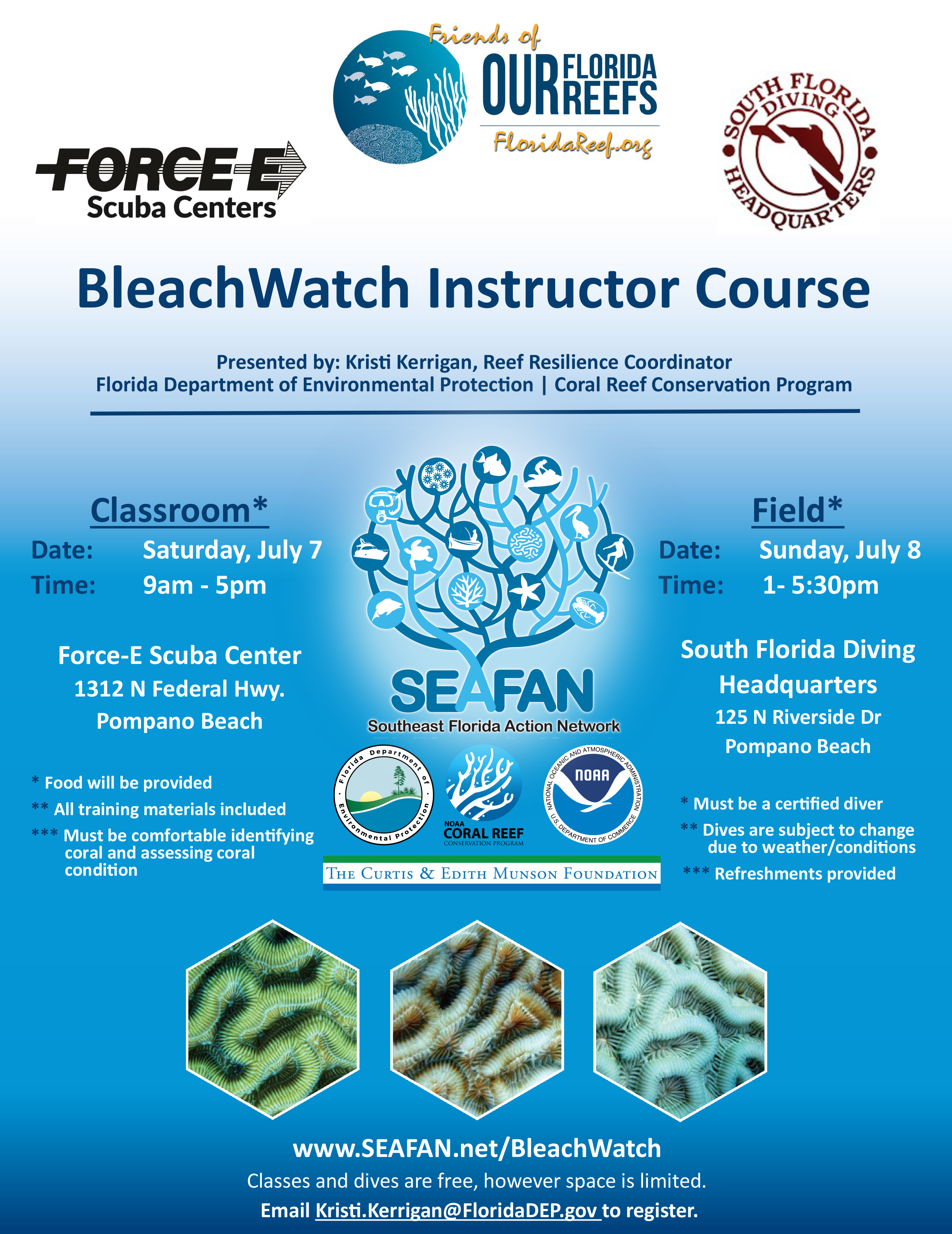 Bleach Watch Instructor Course South Florida Diving Headquarters